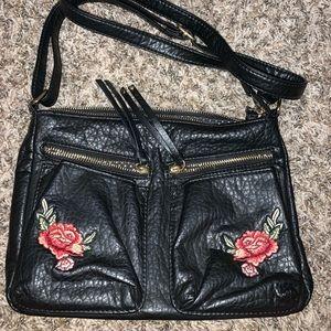Rose leather purse
